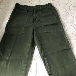 J Crew cropped olive pants